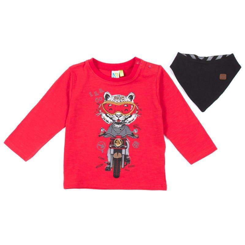 T-Shirt à Manches Longues 2 Pièces Mécano 3-24mois