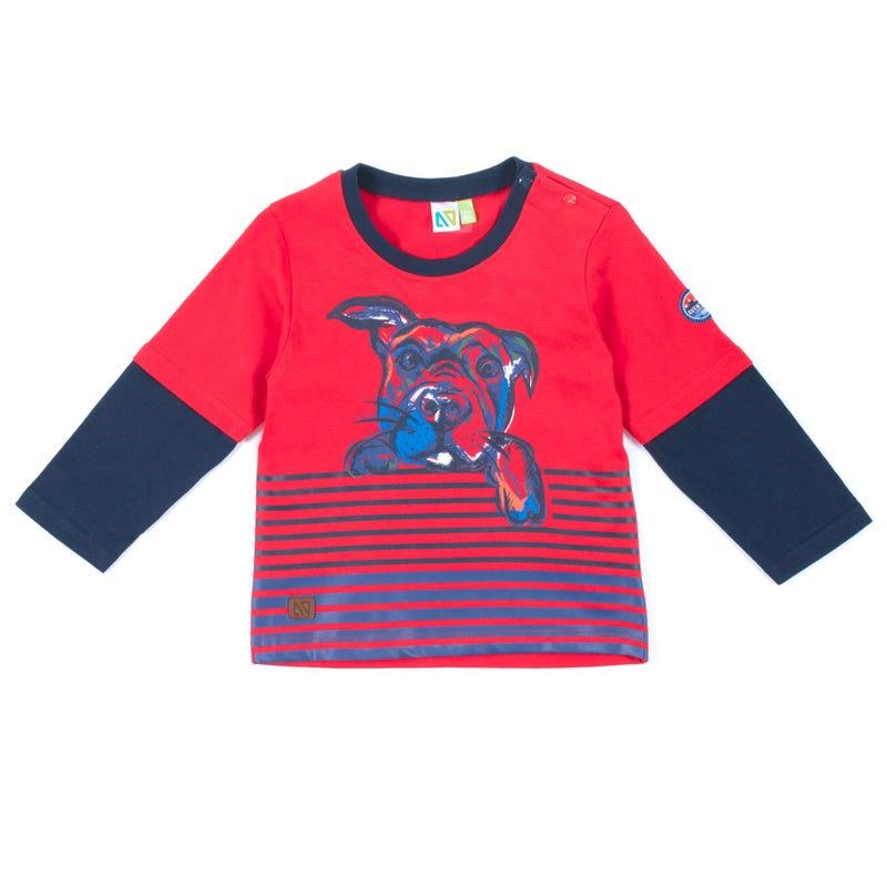 T-Shirt à Manches Longues Chien Scout 3-24mois