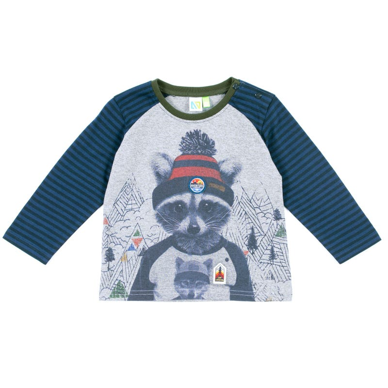 Scout Racoon Long Sleeves T-Shirt 3-24m