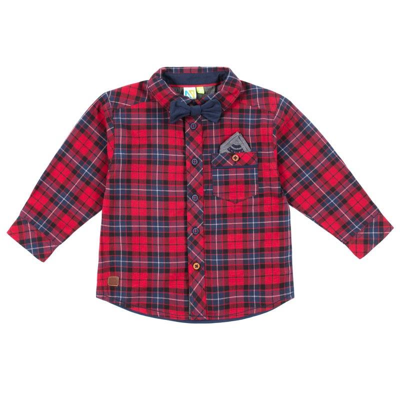 Chic Plaid Long Sleeves Shirt 3-24m