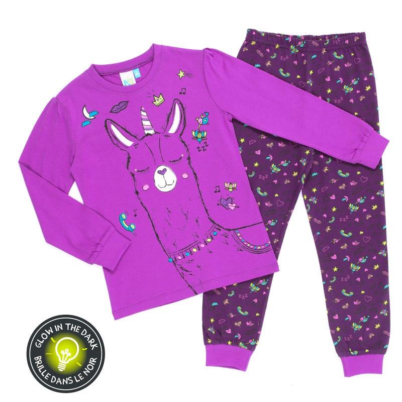 Llama Pajamas 7-12y
