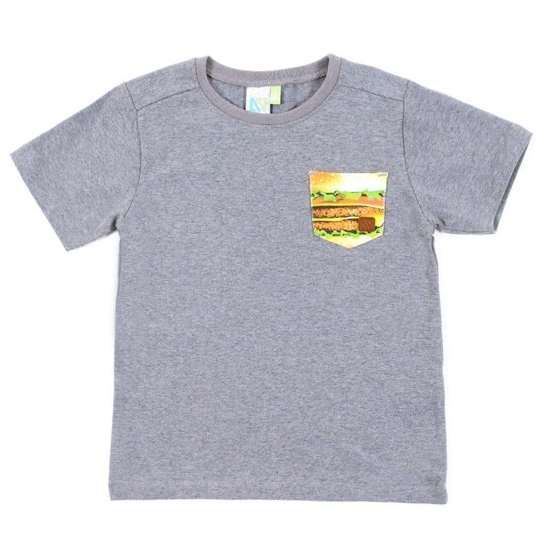 T-Shirt Burger 7-10ans