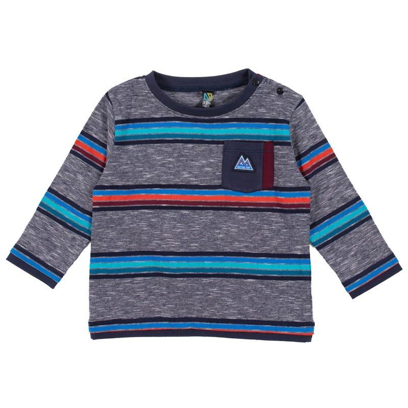 T-Shirt Rayé Poche Pente 3-24mois