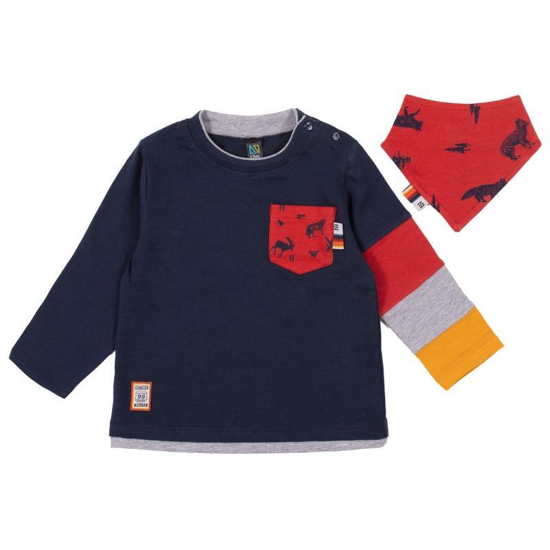 Campfire Scarf T-Shirt 3-24m