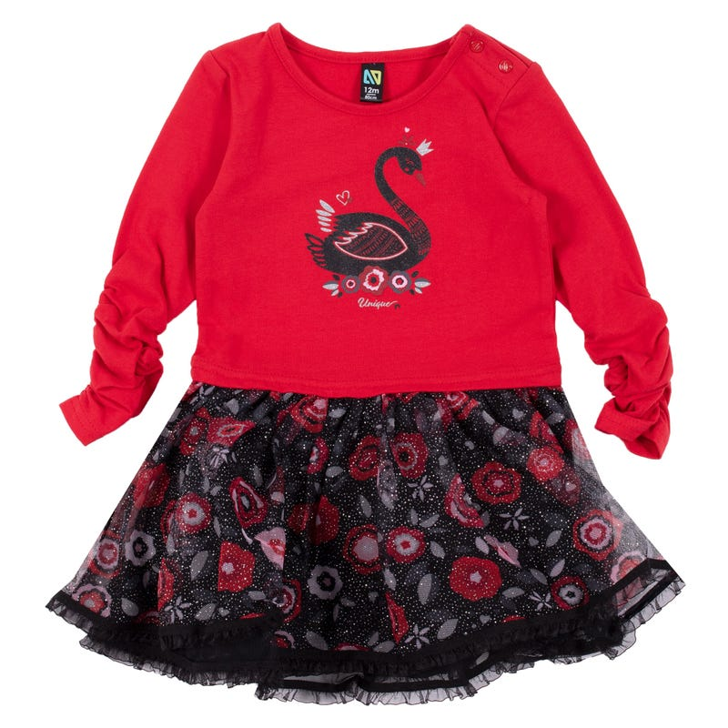 Elegant Swan Dress 3-24m