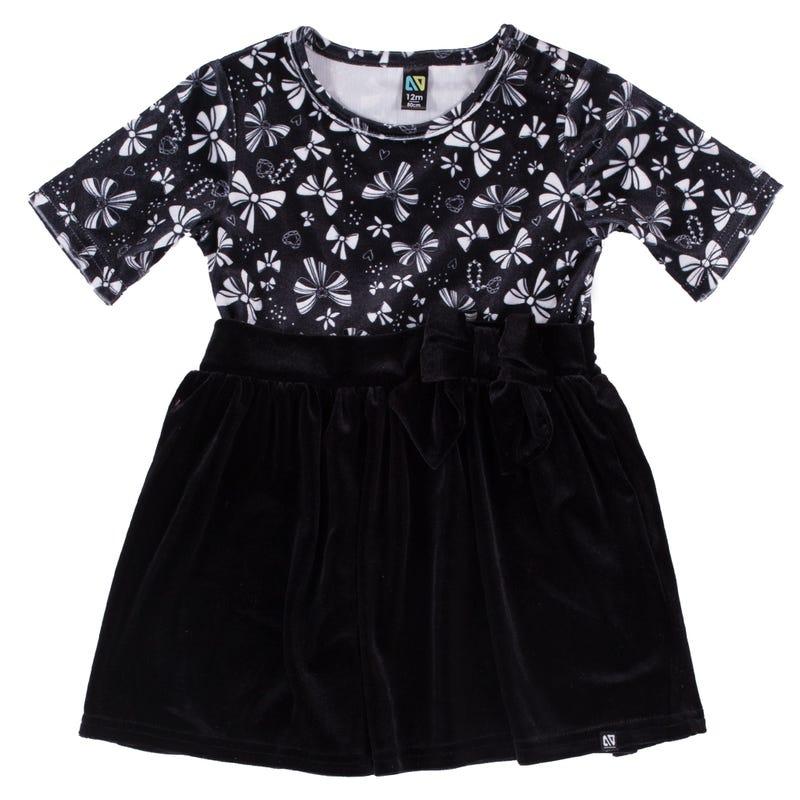 Elegant Velvet Dress 3-24m