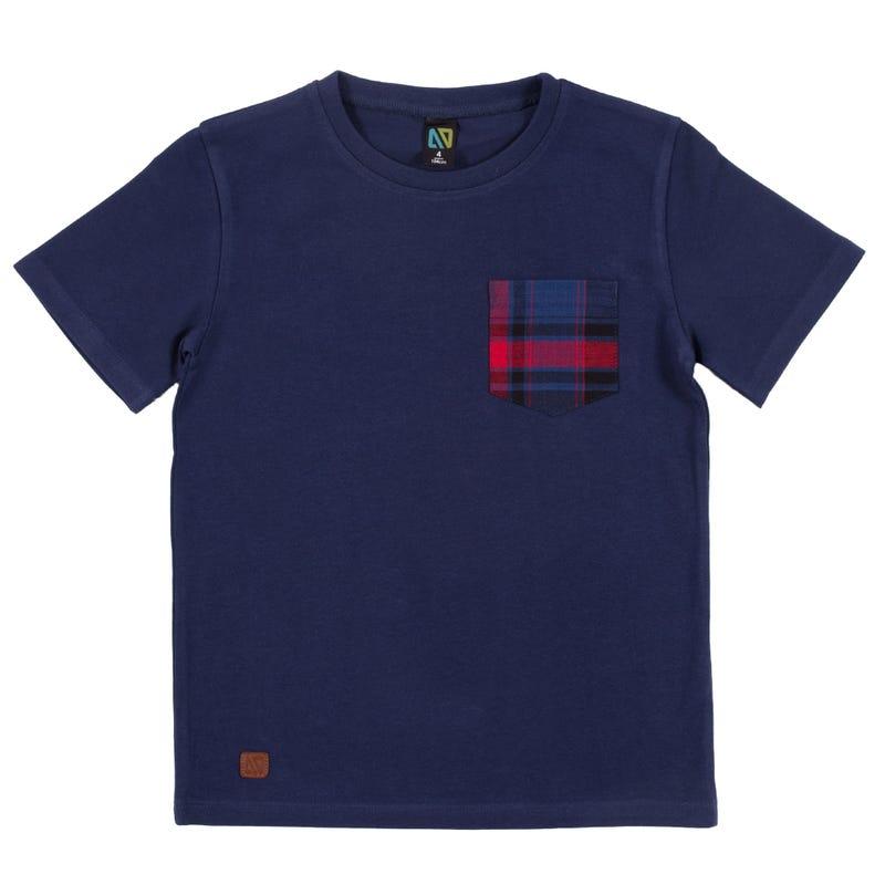 T-Shirt Carreaux Vacances 7-10ans