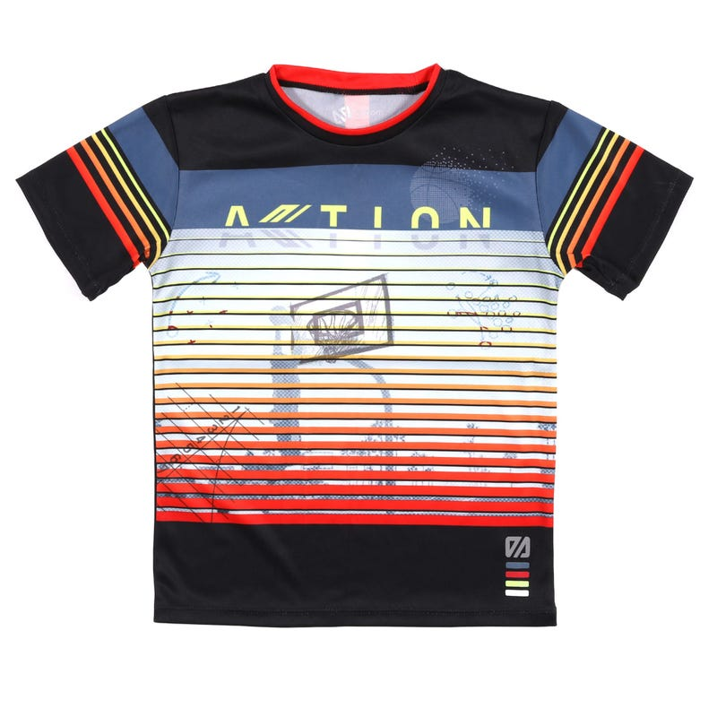 T-Shirt Rayé Action 7-12ans