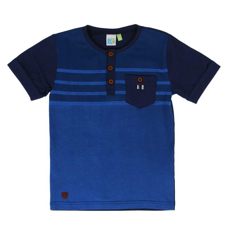 Monaco Button T-Shirt 2-6y
