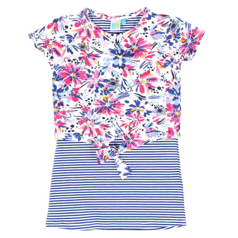 Watercolor Flowers Tunic 7-12y
