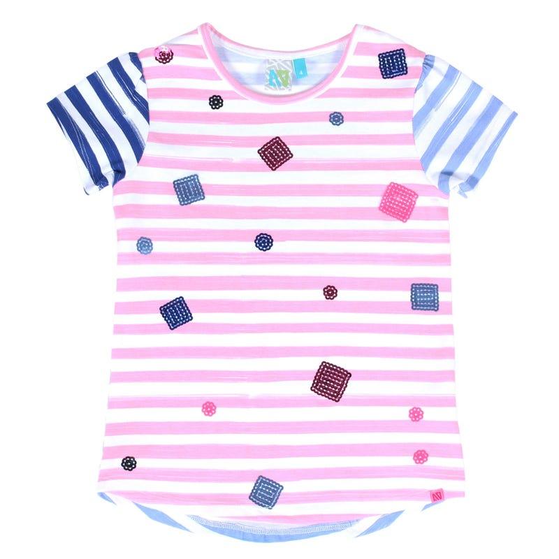 T-Shirt Rayé Aquarelle 7-12ans