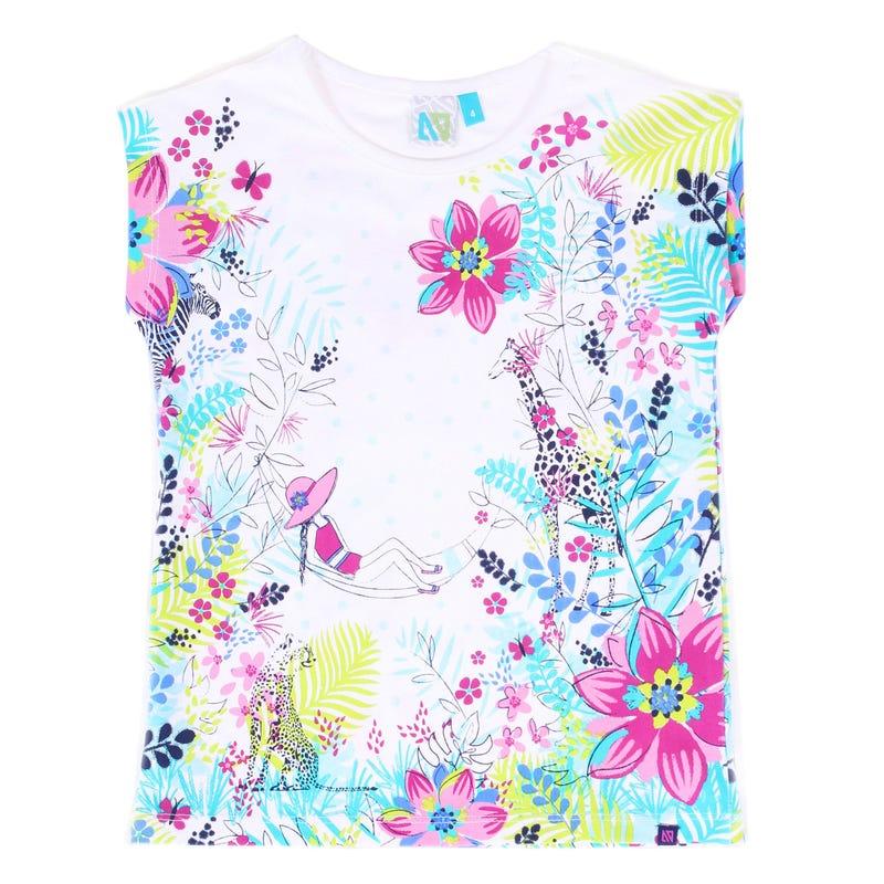 T-Shirt Fleurs Paradis 3-6ans