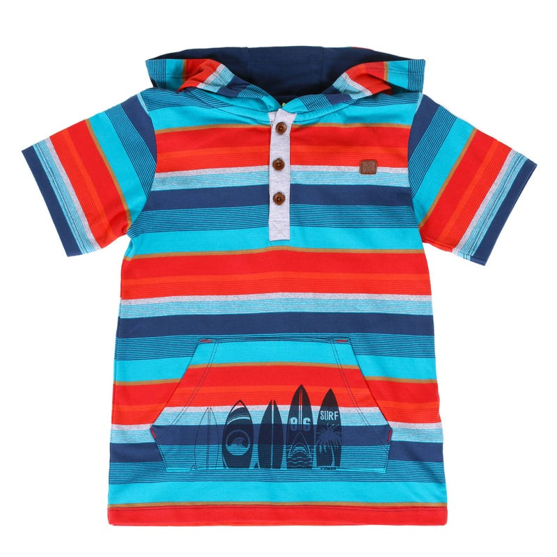 Surf Fanatic Striped Hooded T-Shirt 7-12y