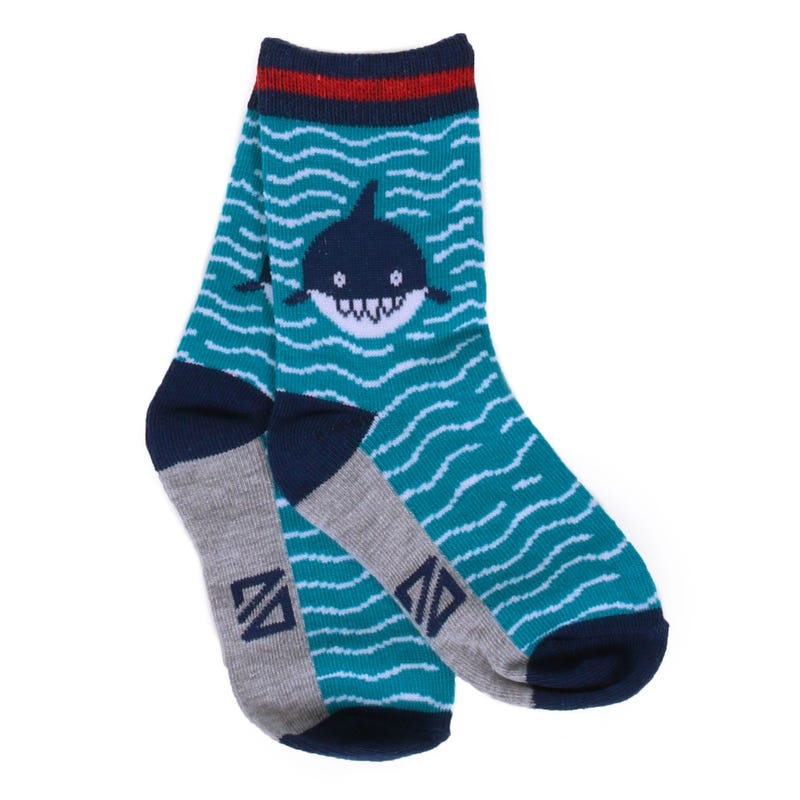 Surf Fanatic Shark Socks 8-12y