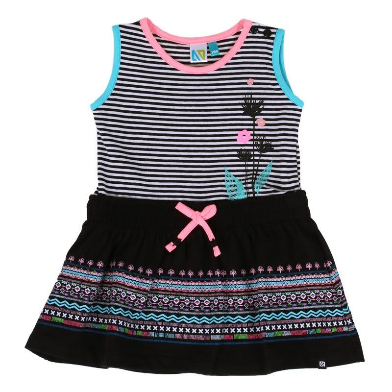 Tropical Days Striped Dress 3-24m