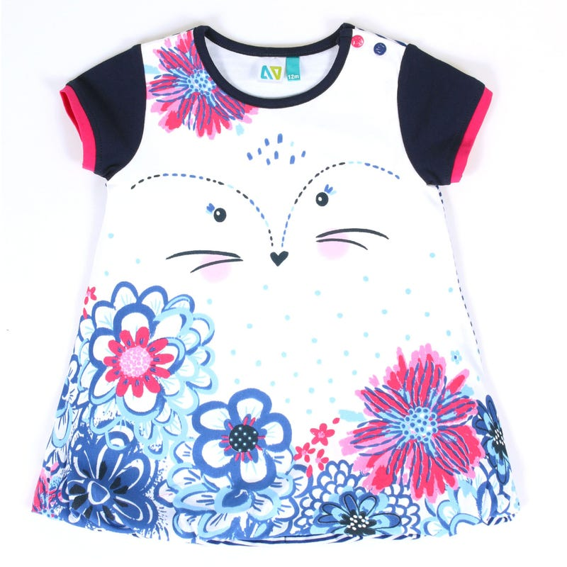 Magic Flowers Animal Tunic 3-24m