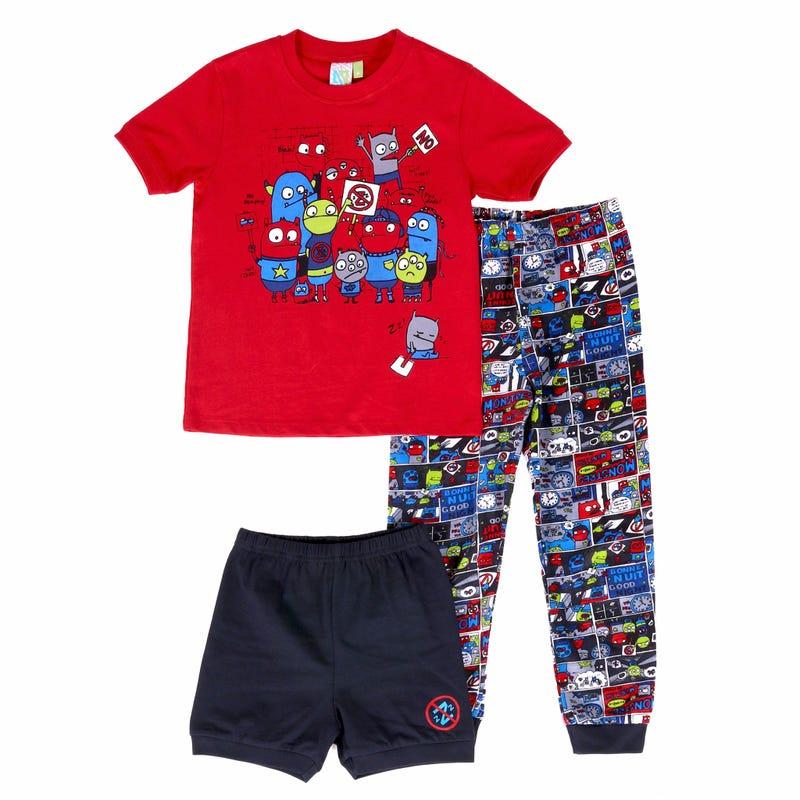 Pyjama 3 Pièces Monstre 2-6ans