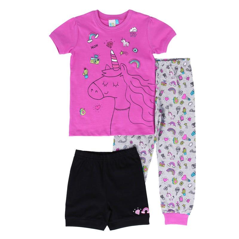 Unicorn 3 Pieces Pyjama 2-6y