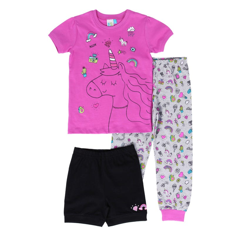 Pyjama 3 Pièces Licorne 2-6ans