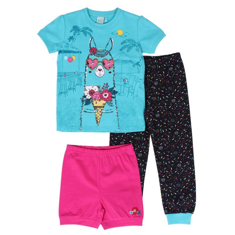 Pyjama 3 Pièces Lama 7-12ans