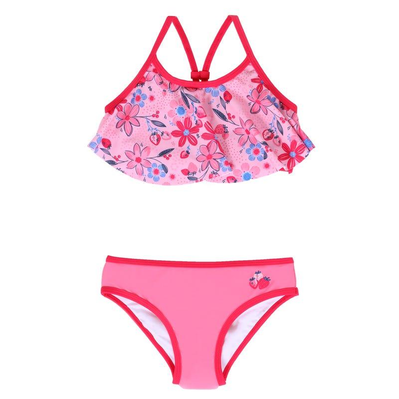 Bikini Fleur Fraise 2-6ans