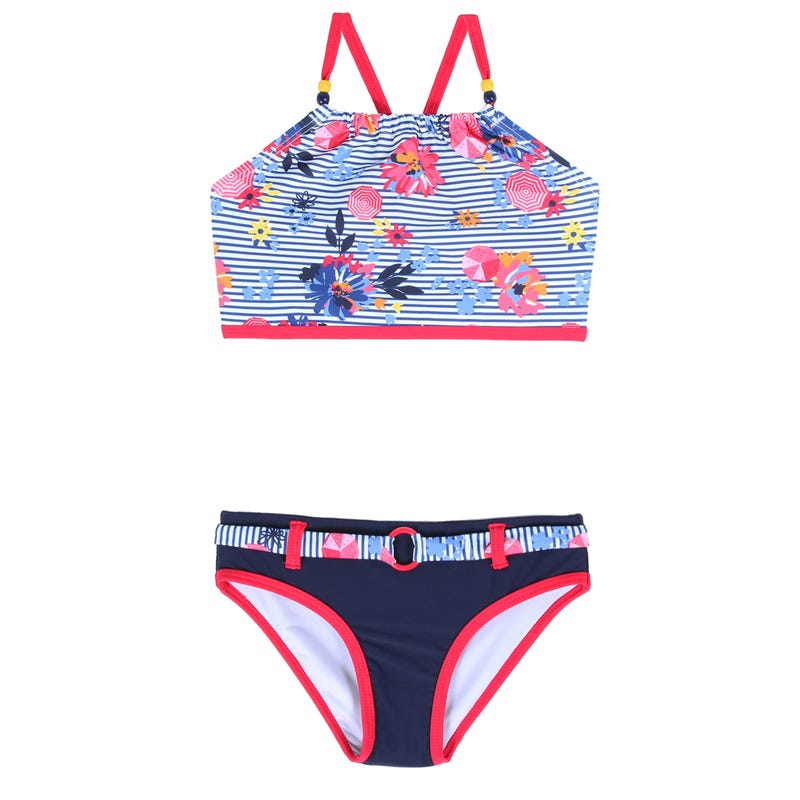 Bikini Rayé Nautique 4-6ans