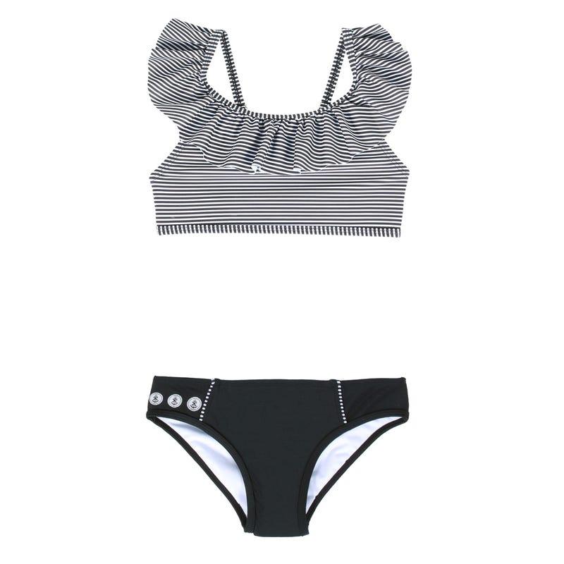 Bikini Rayé Palmier 4-6ans