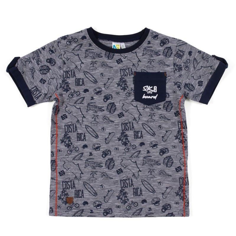 Green Club Printed T-Shirt7-12