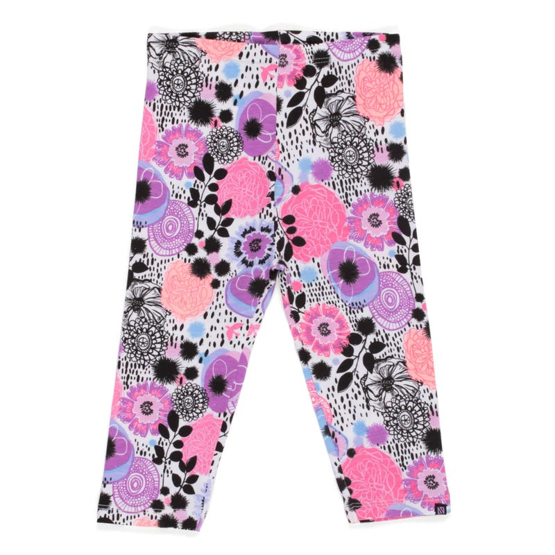 Butterfly printed 3/4 leggings