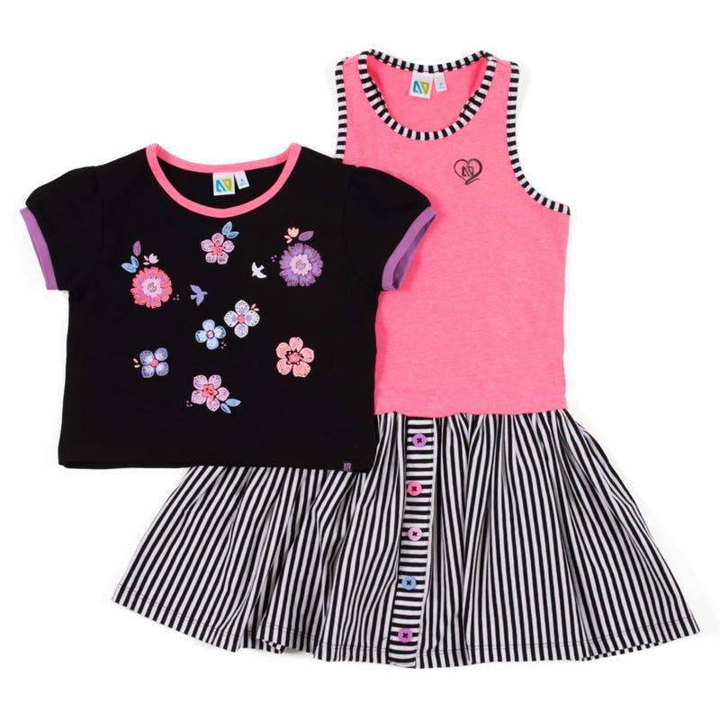 Butterfly 2pcs Dress 7-12