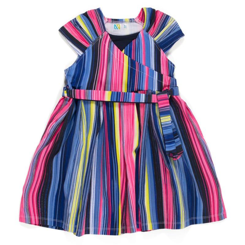Beach Striped Dress 2-6x