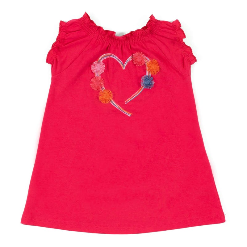Daisy Heart Tunic 3-24m