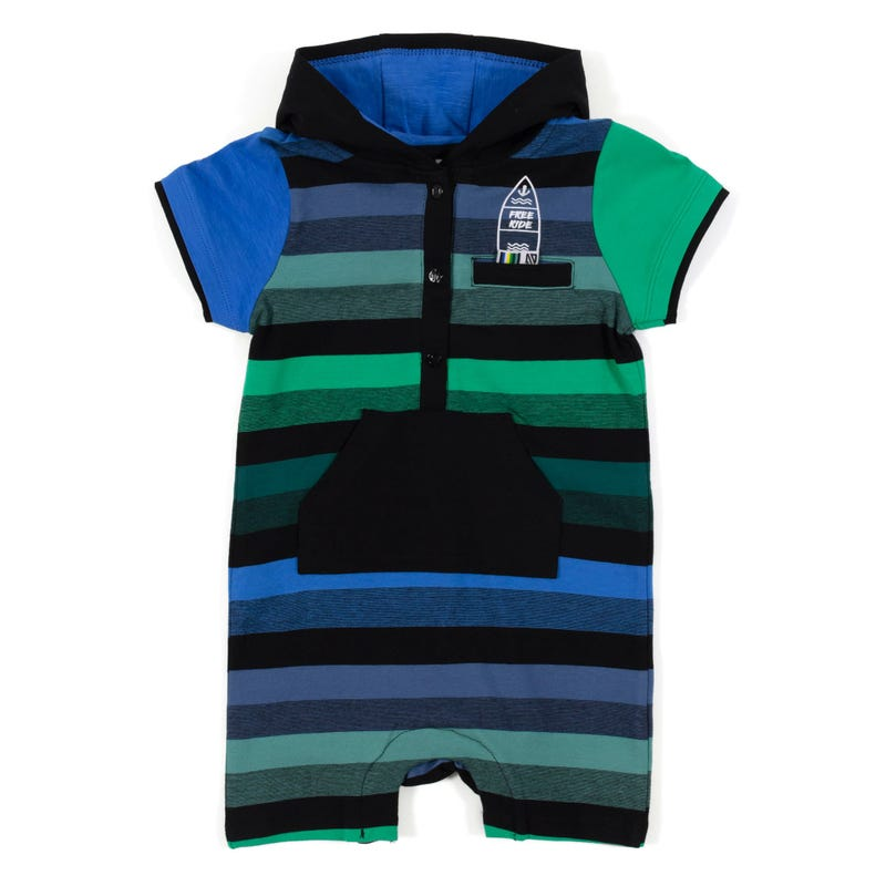 Barboteuse rayée Surf 3-24m