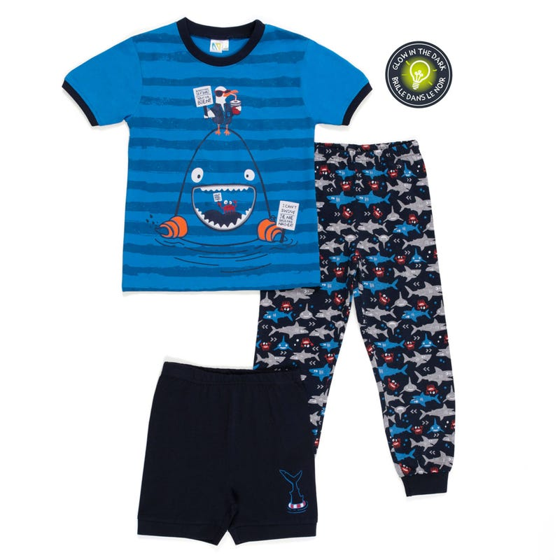 Shark 3pcs Pajamas 7-12