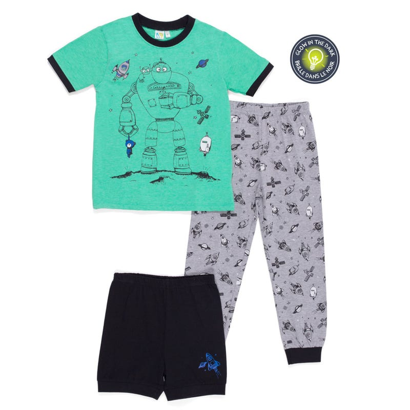 Robot 3pcs Pajamas 7-12