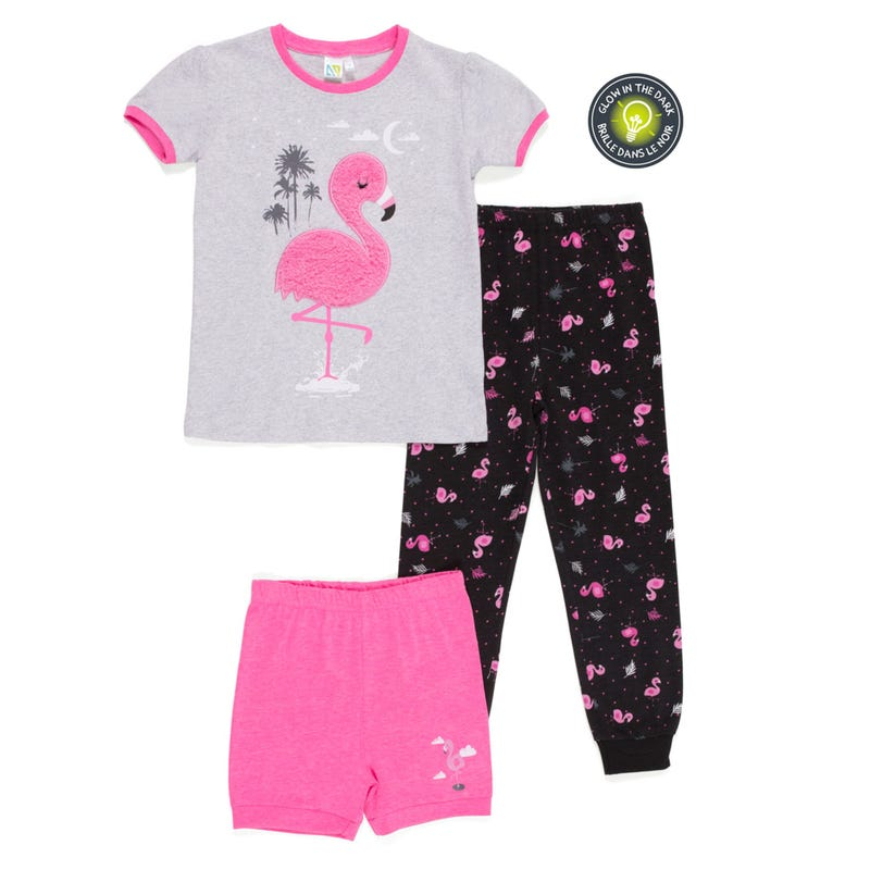 Flamingo 3pcs Pajamas 2-6