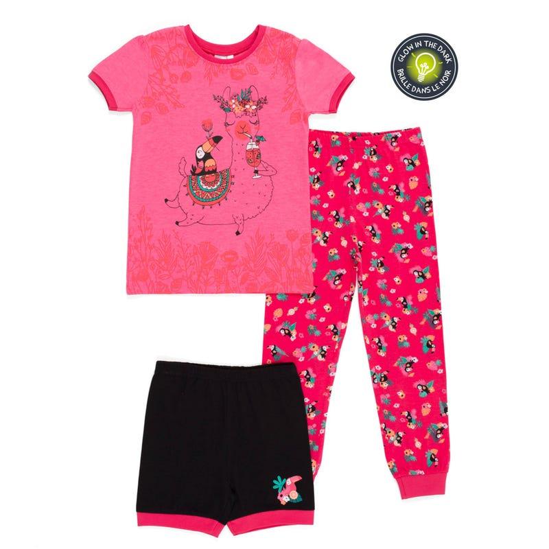 Toucan 3pcs Pajamas 7-12