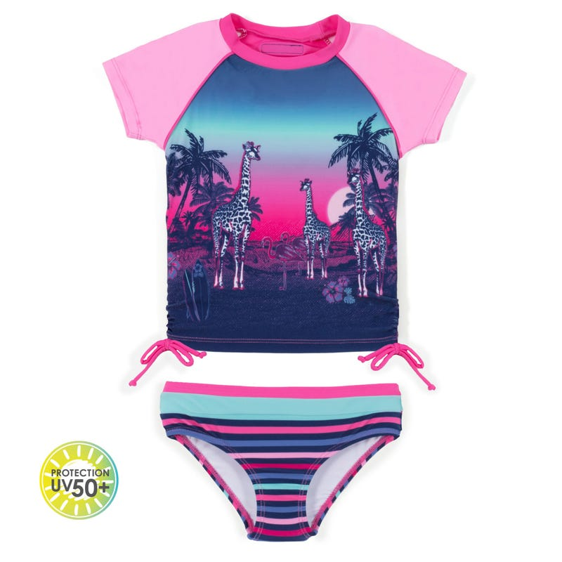 T-Shirt Maillot UV 2 pièces Safari 7-14ans