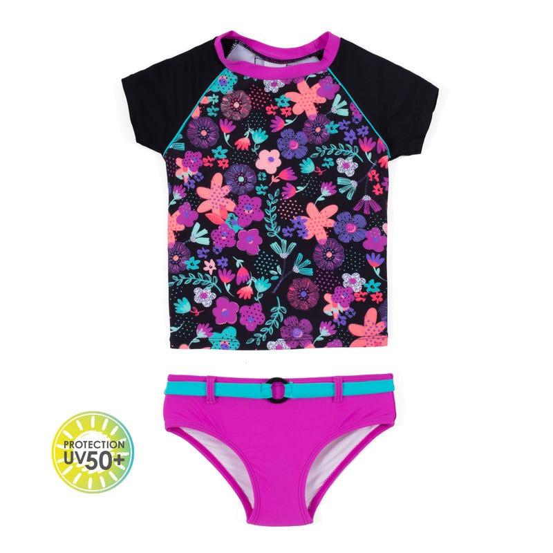 T-Shirt Maillot UV 2 Pièces Petunia