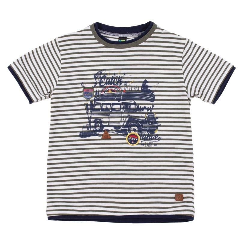 T-Shirt Rayé Prise 7-12ans