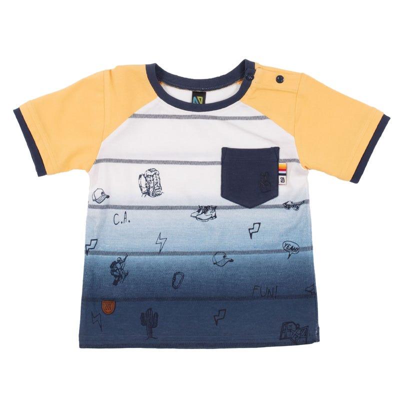 T-Shirt Raglan Sur le Pouce 3-24mois