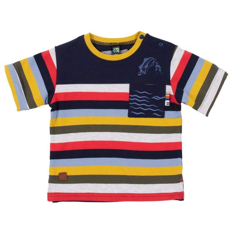 T-Shirt Rayé Poisson 3-24mois
