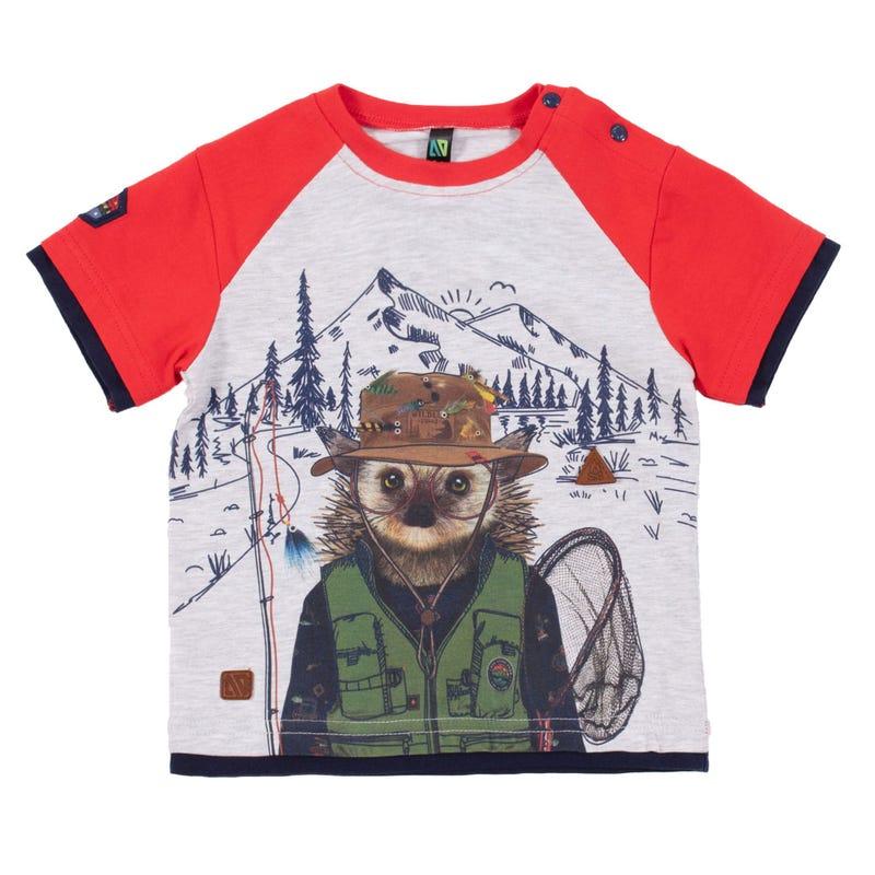 T-Shirt Raglan Poisson 3-24mois