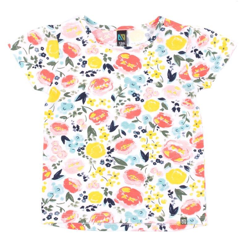 T-Shirt Fleurs Soleil 3-24mois