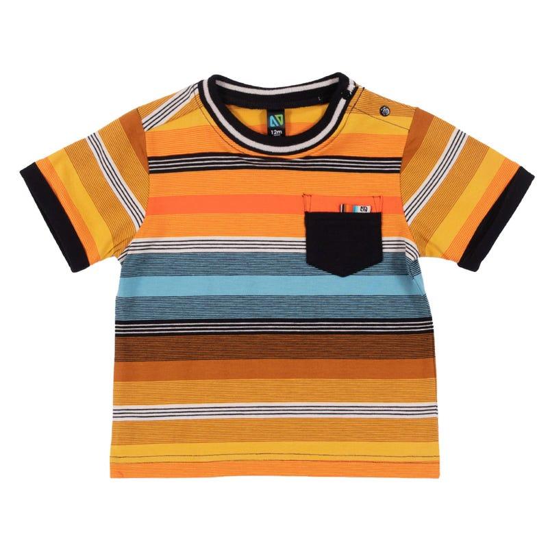 T-Shirt Rayé Insectes 3-24mois