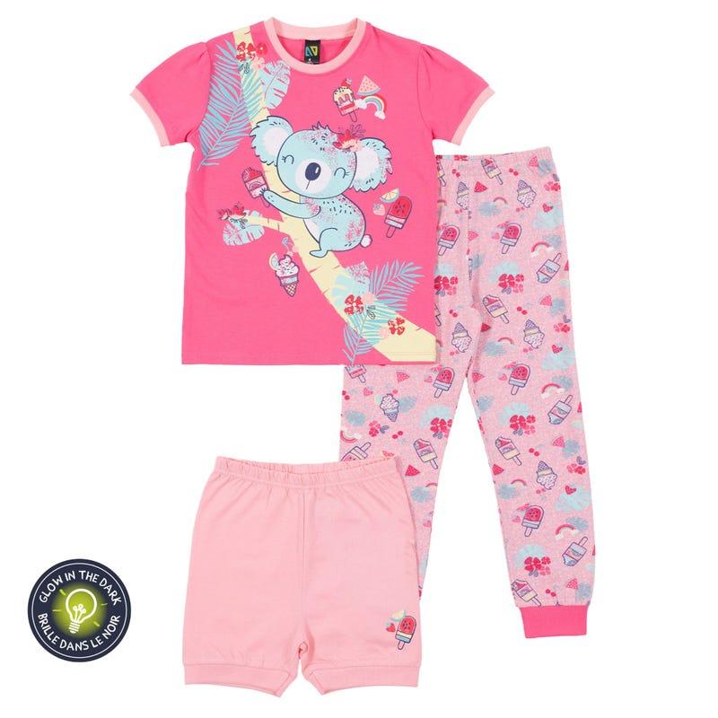 Koala 3-Pack Pajamas 7-12y