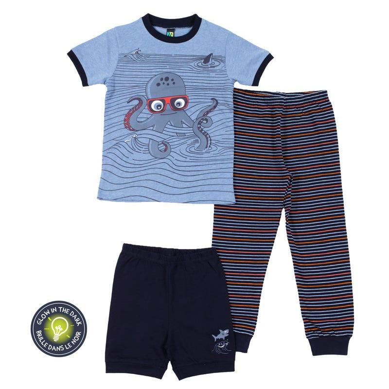 Pirate 3-Pack Pajamas 2-6y