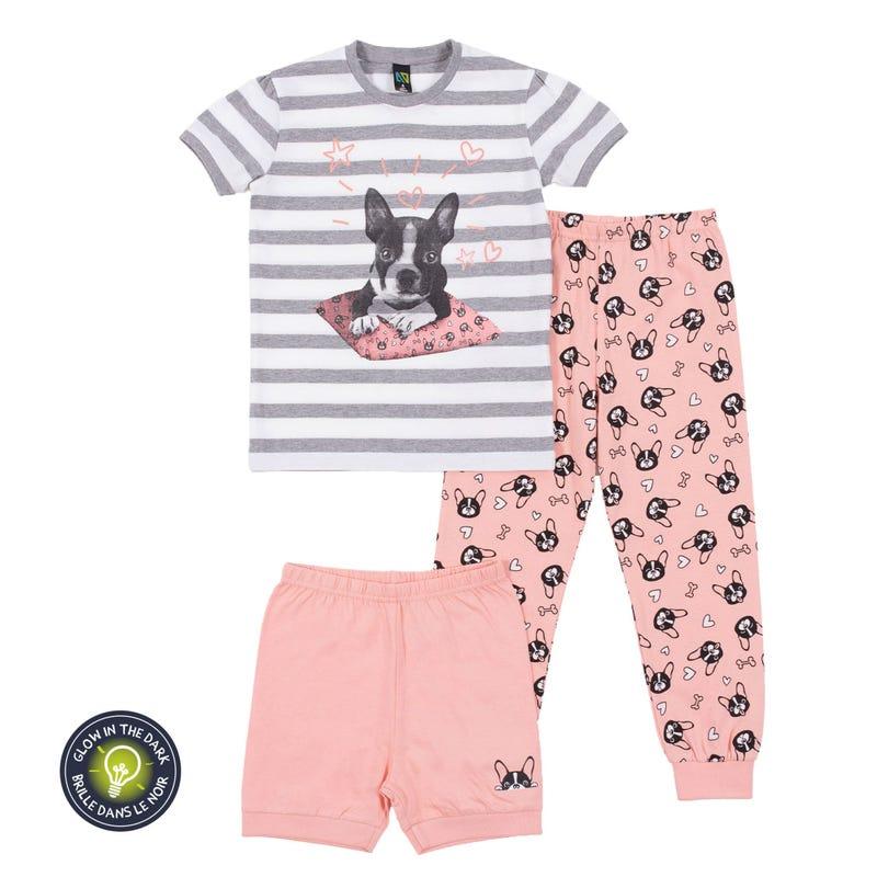 Dog 3-Pack Pajamas 7-12y