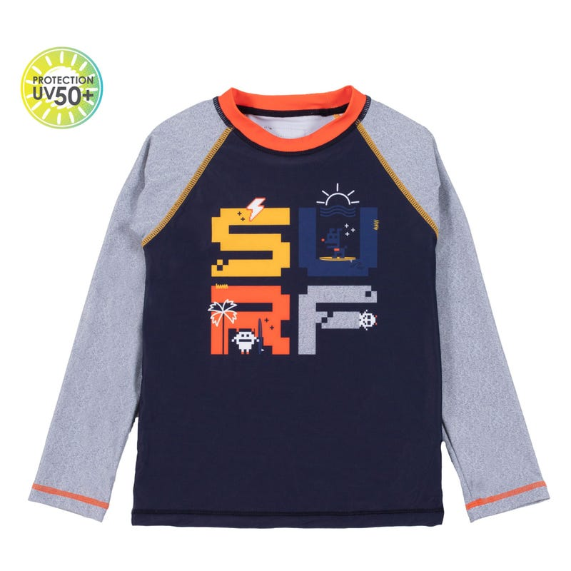 T-Shirt Maillot UV Surf 7-10ans