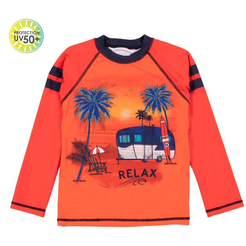 T-Shirt Maillot Camping 7-10ans